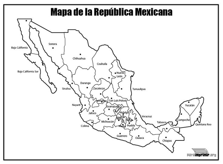 Información e imágenes con MAPAS DE MÉXICO Político, Físico y para ...
