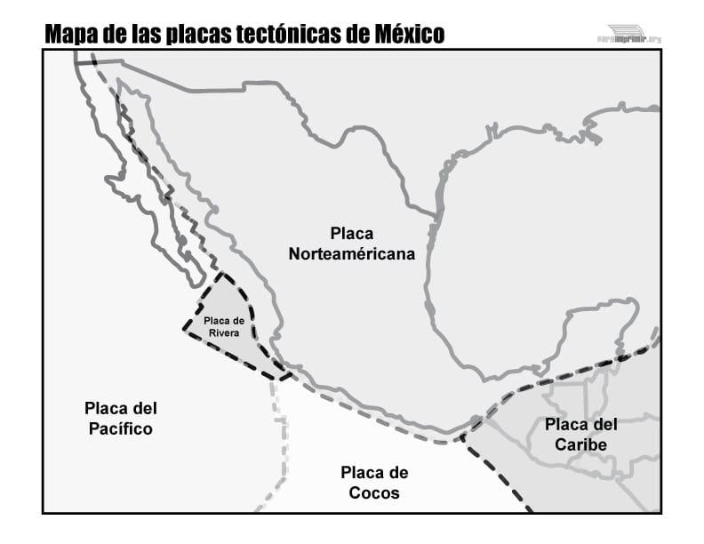 Mapas De Placas Tectónicas Para Descargar E Imprimir