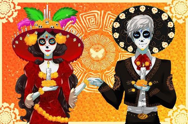 Imágenes Para Día De Muertos Dibujos Gifs Ilustraciones