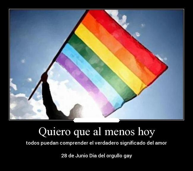 Imágenes De La Bandera Símbolo Del Orgullo Gay Con Frases Y