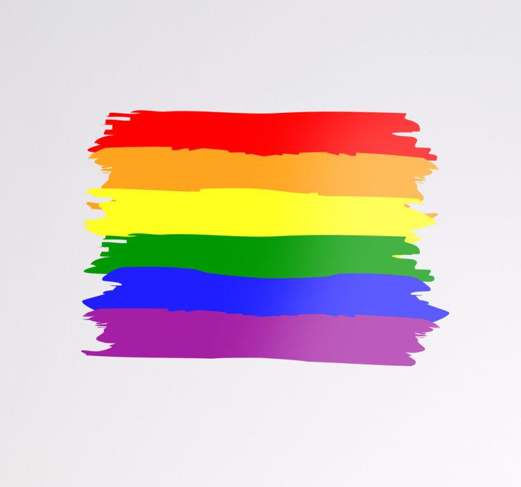 Bandera gay con frases