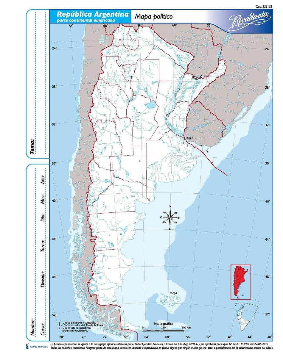 Mapas De Argentina Politico Y Fisico Para Descargar E Imprimir