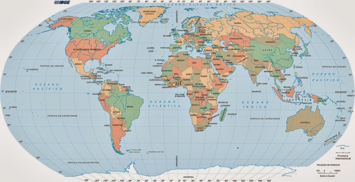 Mapamundis Políticos Con Nombres Para Descargar E Imprimir