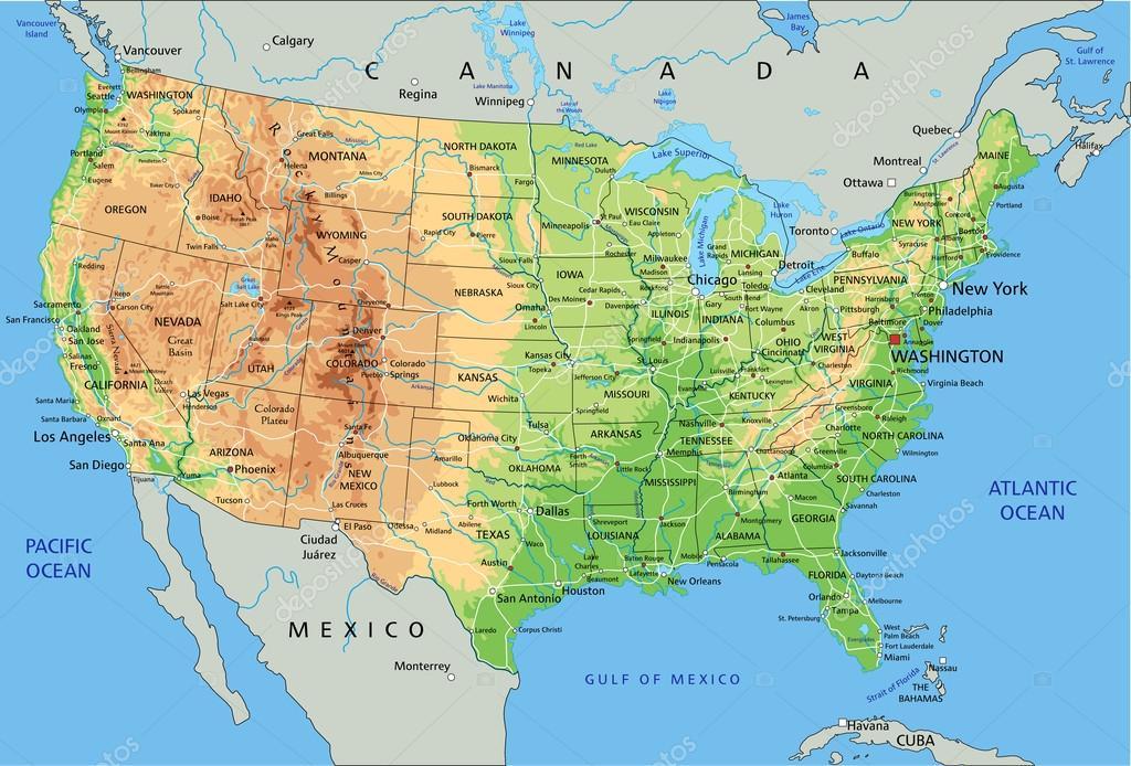 Mapa Politico Estados Unidos.Informacion E Imagenes Con Mapas De Estados Unidos Politico
