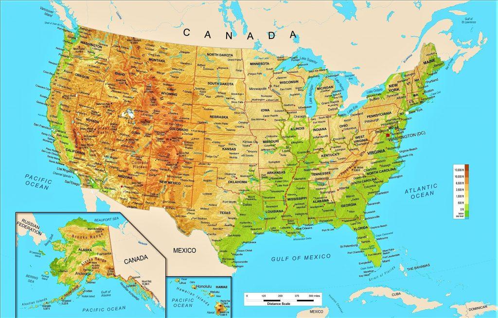 Mapa Politico De Eeuu Con Sus Estados Y Ciudades.Informacion E Imagenes Con Mapas De Estados Unidos Politico