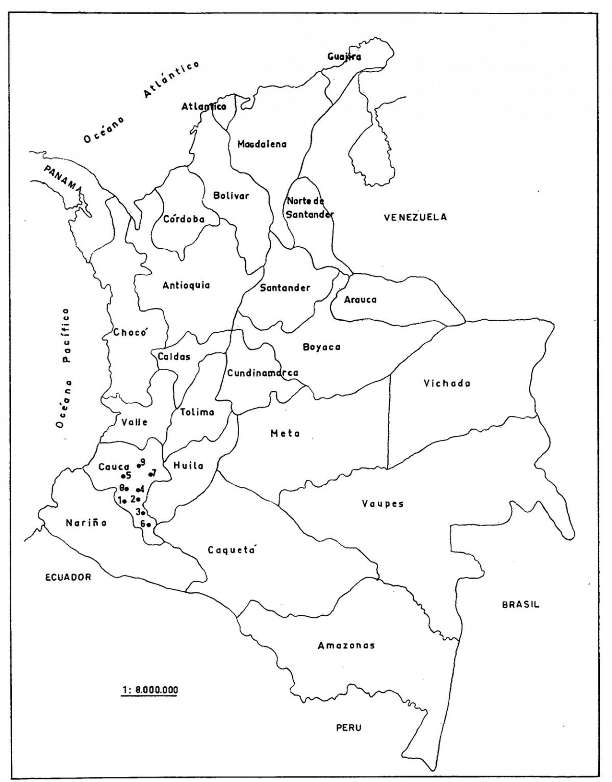 Información E Imágenes Con Mapas De Colombia Político
