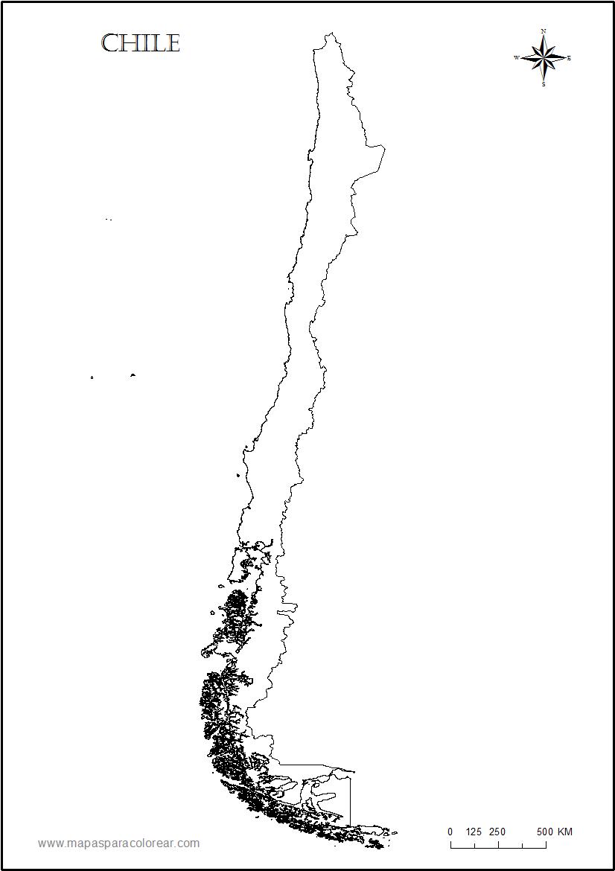 Información e imágenes con Mapas de CHILE Político, Físico y para Colorear