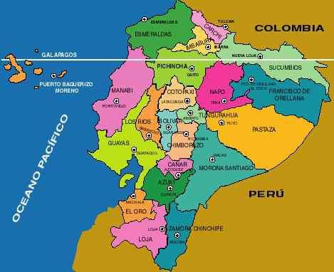 Mapa Del Ecuador Con Nombres Provincias Y Capitales Para Descargar E Imprimir