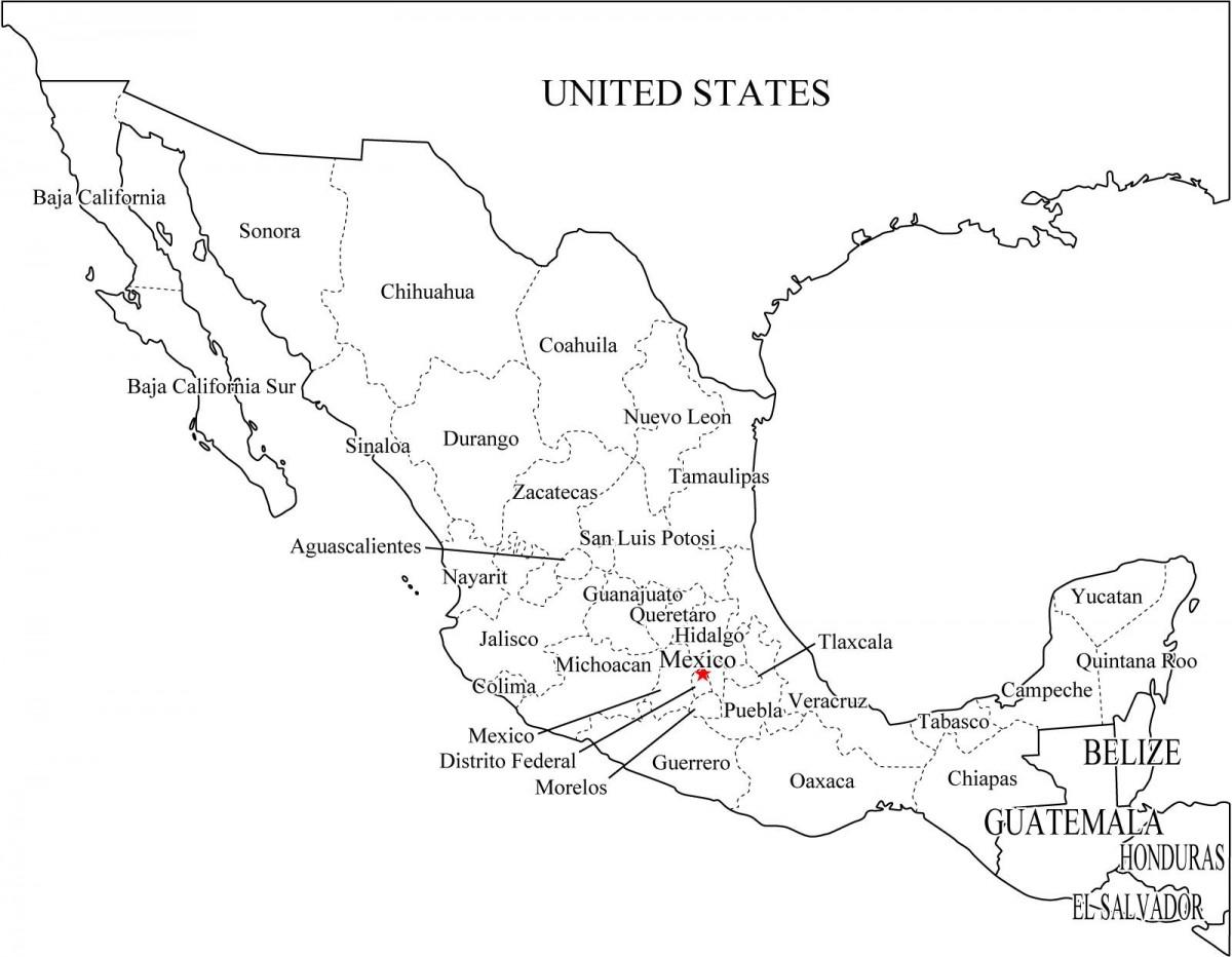 Mapa Republica Mexicana Mapas De Mexico Para Descargar E Imprimir