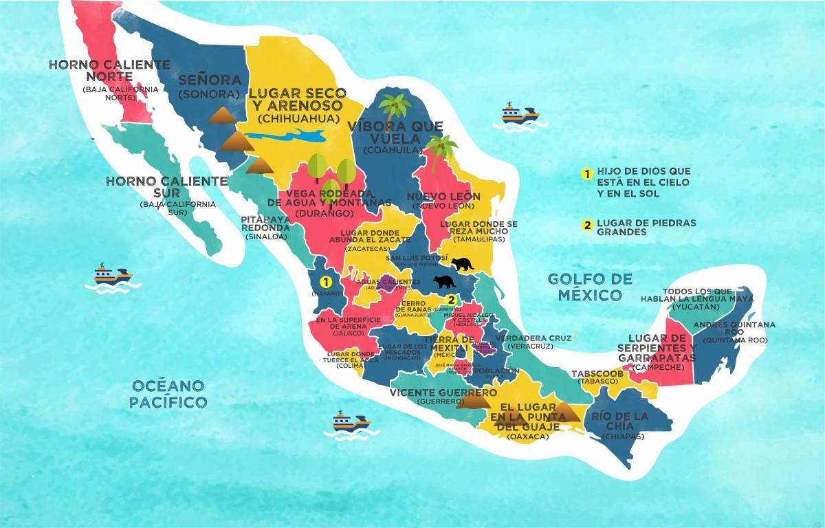 Mapa República Mexicana Mapas De México Para Descargar E