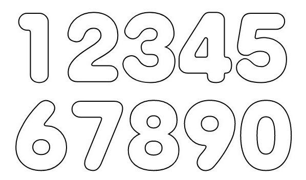 Plantillas De Números Grandes Para Imprimir
