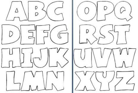 Plantillas De Letras Grandes Moldes De Letras Para Imprimir Y Recortar